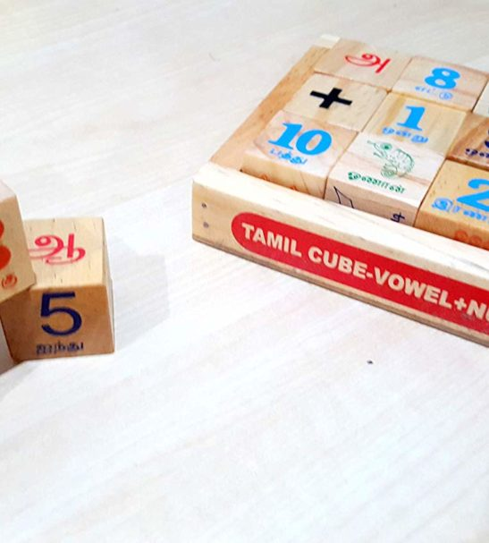 Tamil vowels cube